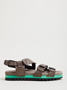 Never really liked sandals myself but these actually look legit Lanvin Mens Three Strap Sandals in Gray for Men (grey)