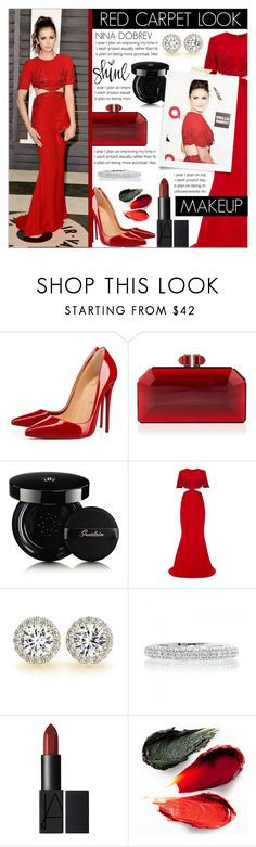 """NINA DOBREV RED CARPET"" by celine-diaz-1 ❤ liked on Polyvore featuring Christian Louboutin, Guerlain, Reem Acra and Rituel de Fille"