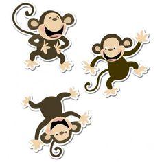 "Monkeys 10"" Jumbo Designer Cut-Outs"