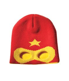 Me in Mind Hero Beanie  It's a bird! It's a plane! It's perfect for keeping your favorite superhero warm—and incognito.    To buy: $18, psychobabyonline.com.