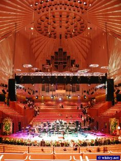 Inside the Sydney Opera House, N.S.W. Australia.