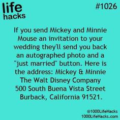 If you send Mickey mouse and Minnie mouse. ..