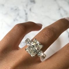 Radiant Cut Lab-Created White Sapphire with Paved Diamonds Engagement Ring – Underwear Designs Perfect Engagement Ring, Halo Diamond Engagement Ring, Radiant Cut Diamond, Diamond Cuts, Lab Created Diamond Rings, Celebrity Engagement Rings, Silver Ring Designs, Jewelry Model, Silver Jewelry