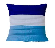 Blue stripes cotton pillow cover Throw pillow cover Nautical pillow  | AmoreBeaute - Housewares on ArtFire