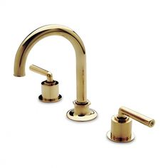 Henry Gooseneck Three Hole Deck Mounted Lavatory Faucet — Products | Waterworks