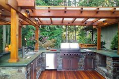 Get Cooking on Your Awesome Outdoor Kitchen Designs Ideas tag: outdoor kitchen d. - Get Cooking on Your Awesome Outdoor Kitchen Designs Ideas tag: outdoor kitchen d… – Outdoor Ki - Outdoor Kitchen Plans, Outdoor Sinks, Outdoor Kitchen Countertops, Outdoor Kitchen Design, Green Countertops, Outdoor Kitchens, Outdoor Rooms, Outdoor Living, Best Kitchen Design