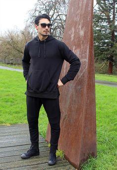 BLACK tracksuit, SLIM-fit designer bottoms & matching hoodie | ELITE PHYZIQUE CLOTHING | ASOS Marketplace