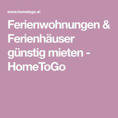 Ferienwohnungen & Ferienhäuser günstig mieten - HomeToGo House