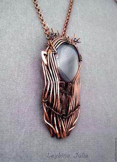Купить Кулон Трандуил Король эльфов 2 , агат - серый, кулон с камнем, кулон на цепочке