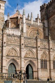 Monasterio de Guadalupe. Detalle de la fachada.  Cáceres, Extremadura  Spain
