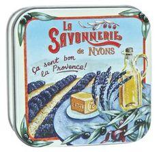 Scatola di latta saponetta La Savonnerie de Nyons