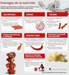 Enemigos de la nutrición saludable #salud #estudiantes #umayor