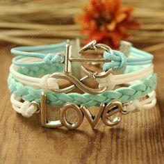 Anchor bracelet - love infinity bracelet