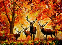 PAINTING] Autumn Paintings by Leonid Afremov - ART FOR YOUR WALLPAPER