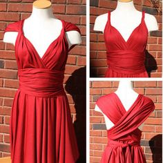 Infinity Dress Pattern - this dress has only one seam and can be worn many different ways.