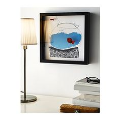 IKEA - OLUNDA, Picture, Motif created by Jane Ormes.The fish are mounted at a distance from the background, which gives the picture added depth.