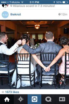 Unique photo idea for a wedding