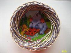Простое закрытие плетения - Плетение из газетных трубочек - Поделки из бумаги - Каталог статей - Рукодел.TV