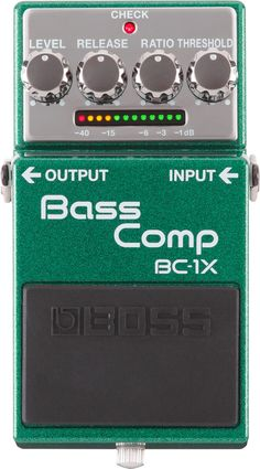 BOSS BC-1X X-Series Bass Compressor Part of the premium sound X-series, the BOSS BC-1X delivers cutting edge modern bass compression in a compact pedal. Multiband compression is applied automatically