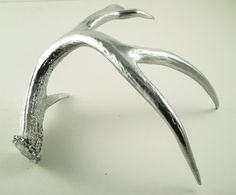 Silver Painted Antler