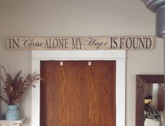 In Christ Alone My Hope Is Found Distressed Sign On Reclaimed Wood Christian Home Decor
