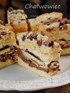 Definitely myst try making this. Bakery Recipes, Easy Cake Recipes, Sweet Recipes, Dessert Recipes, Polish Desserts, Polish Recipes, Cooking Cake, Cooking Recipes, Food Cakes
