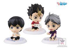 Amazon.com: Haikyuu!! Second Season Road to Tokyo Expedition Vol.2 Set of 3 Kageyama Sugawara Nishinoya Volleyball Chibi Kyun: Toys & Games
