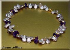 exclusives Coinperlen - Amethystcollier von Dream-Colliers auf DaWanda.com
