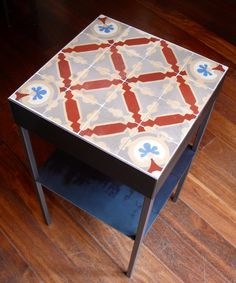 """Mesa Bonita rescues antique """"Modernista"""" (similar to Art Nouveau) floor tiles from the skips of Barcelona and gives them a second life as tables, frames, trivets and all manner of wonderful things. Contact Benedicte via www.mesabonita.es You will also find her here on Pinterest: Barcelona Tiles Mesabonita - Benedicte Bodard benedictebodard@gmail.com www.mesabonita.es https://www.facebook.com/pages/Mesa-Bonita/115206696959?ref=hl https://instagram.com/mesabonitabcn/"""