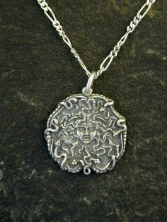 Sterling Silver Medusa Pendant on a Sterling Silver by peteconder, $42.00