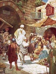 De wijzen uit het Oosten komen aan in Jeruzalem
