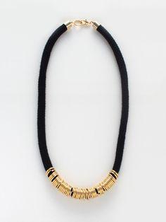 BRIKA.com | Black Brass Loops Necklace | $70