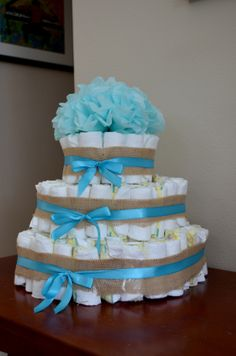 Sofia's Baby Shower!  Diaper Cake, Rustic