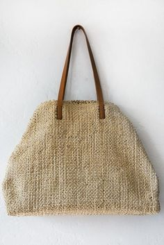 henry cuir natural leather tote