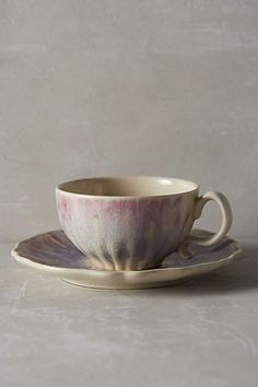 Smoke Rings Cup & Saucer - anthropologie.com