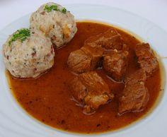 Gulash con canederli allo speck - Goulash and dumplings with bacon - Gulasch mit Speckknödel | Flickr - Photo Sharing!
