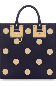 Sophie Hulme 'Albion' Polka Dot Studded Leather Crossbody Bag available at #Nordstrom