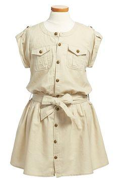 Ralph Lauren Linen & Cotton Cargo Dress (Toddler Girls & Little Girls) Kids Outfits Girls, Toddler Girl Dresses, Toddler Outfits, Girl Outfits, Girls Dresses, Toddler Girls, Baby Kids, Toddler Fashion, Kids Fashion