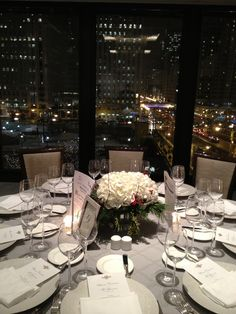 Holiday dinner in the Devonshire Ballroom, at The Langham, Chicago.