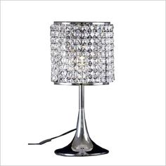 Minnelli Crystal Table Lamp in Chrome Tiffany Connection. LOVE