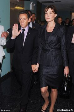 Le Président Nicolas Sarkozy et son épouse Carla Bruni Sarkozy