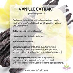 Der balsamische, liebliche Vanilleduft erinnert an die Kindheit und an Vanillekipferl. Vanille vermittelt Wärme und Geborgenheit.