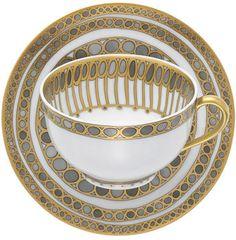 Made in France. Antique Tea Cups, China Tea Sets, Tea Service, Gold Pattern, Tea Cup Saucer, Bracelet Set, Retro, Tea Pots, Tableware