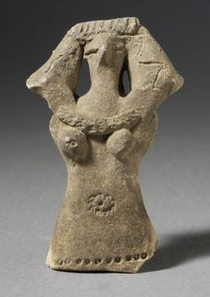 Female Fertility Figurine from Ancient Egypt, between 1500-1200 BCE, made in Ceramic