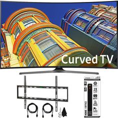 Samsung UN65KU6500 - Curved 65-Inch 4K Ultra HD LED Smart TV w/ Flat Wall Mount Bundle includes TV, Flat Wall Mount Ultimate Kit and 6 Outlet Power Strip with Dual USB Ports Price