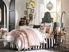 I love the PBteen Emily & Meritt Parisian Bedroom on pbteen.com (THIS SHOULD BE MINE! not a teens bedroom!)