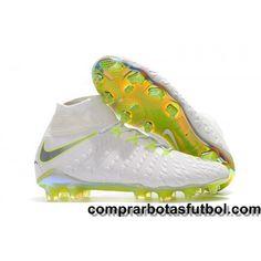 f147fbe8f33 Botas De Futbol Nike Hypervenom Phantom III Elite DF FG Blanco Gris Volt  Gris Online