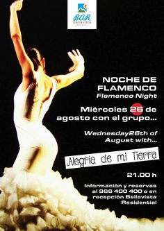 Cartel Flamenco 26 de agosto Bingo Night, Activities, Bar, August 26, Flamingo, Poster, Night, Tourism, Fiestas
