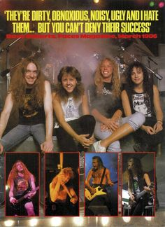 Metallica - magazine page from 1986