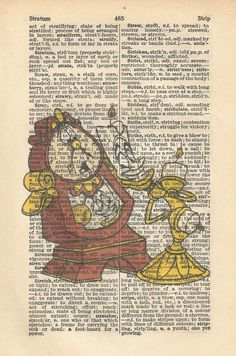 Lumiere and Cogsworth Vintage Print by orangebutterflyart on Etsy